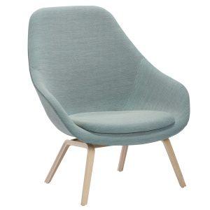 Hay About a Lounge Chair High AAL93 fauteuil steelcut trio 815 onderstel gezeept eiken