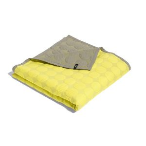 Hay Mega Dot bedsprei large yellow grey 245x235