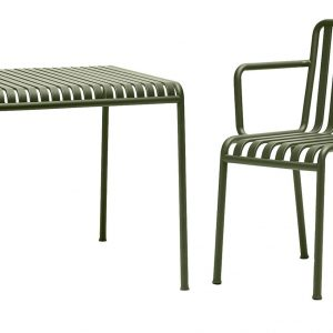 Hay Palissade tuinset 80x80 tafel + 4 stoelen (armchair)