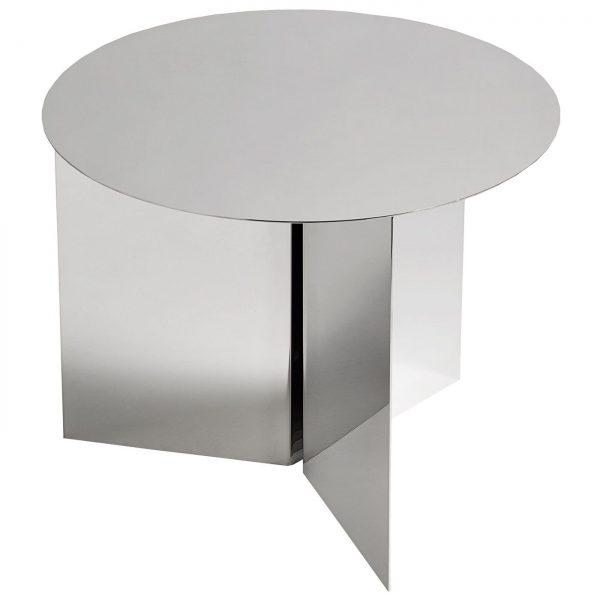 Hay Slit Table Round bijzettafel spiegel