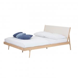 Gazzda Fawn bed - Houten bedframe - Tweepersoons - Cotton webbing -