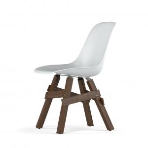 Kubikoff Icon stoel - V9 Side Chair Shell - Walnoten onderstel -