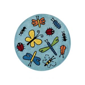 Bugs vloerkleed blauw