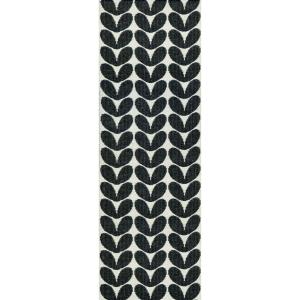 Karin vloerkleed zwart 70 x 300 cm.