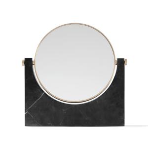 Pepe Marble spiegel messing-zwart marmer