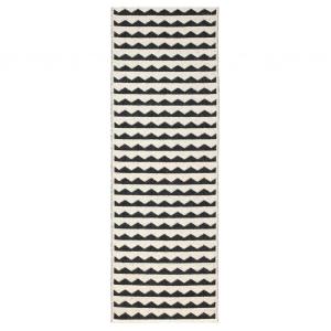 Gittan vloerkleed zwart 70 x 300 cm.