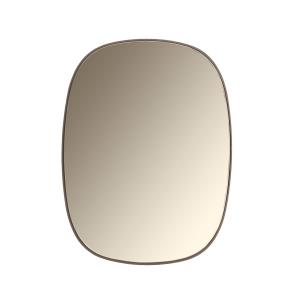 Framed spiegel klein taupe