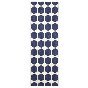 Anna vloerkleed blauw 70 x 260 cm.