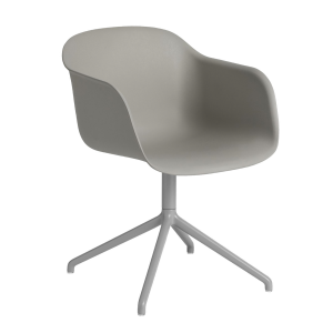 Fiber Swivel stoel met armleuning grijs