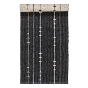 Fir vloerkleed nude-black 70 x 300 cm.