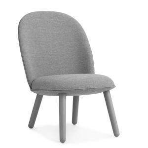 Ace Lounge stoel stof grijs