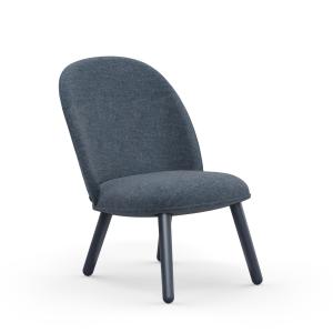 Ace Lounge stoel stof donkerblauw