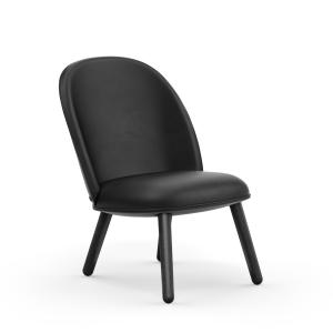 Ace Lounge stoel leer zwart