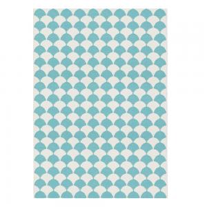 Gerda vloerkleed blauw groot 150 x 200 cm.