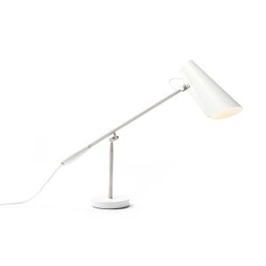 Birdy tafellamp wit-metallic