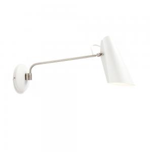 Birdy wandlamp wit-metallic