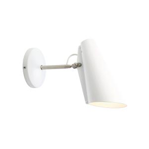 Birdy wandlamp klein wit-metallic