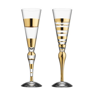 Clown Gold champagneglas 2-pack 20 cl.