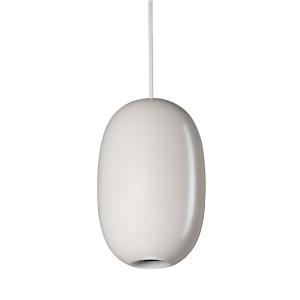 Pebble pendant langwerpig warm grijs-metaal