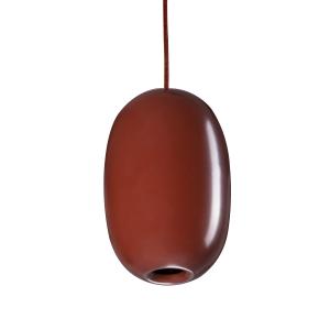 Pebble pendant langwerpig geoxideerd rood-metaal
