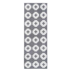 Flower vloerkleed stone (grijs) 70 x 300 cm.