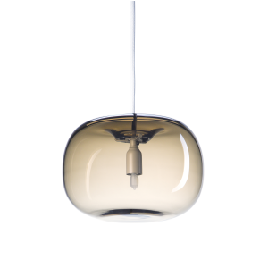 Pebble pendant plomp warm grijs-glas