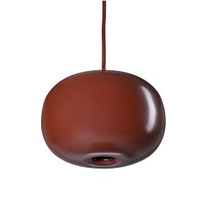 Pebble pendant plomp geoxideerd rood-metaal