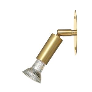 Star 1 wandlamp directe aansluiting ruw messing