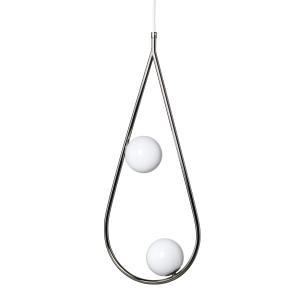 Pearls hanglamp klein nikkel