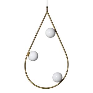 Pearls hanglamp groot messing