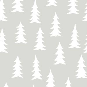 Gran digitaal behang grijs-wit