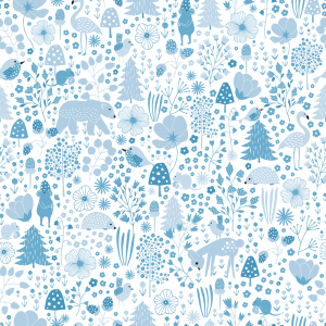 Agnes digitaal behang blauw