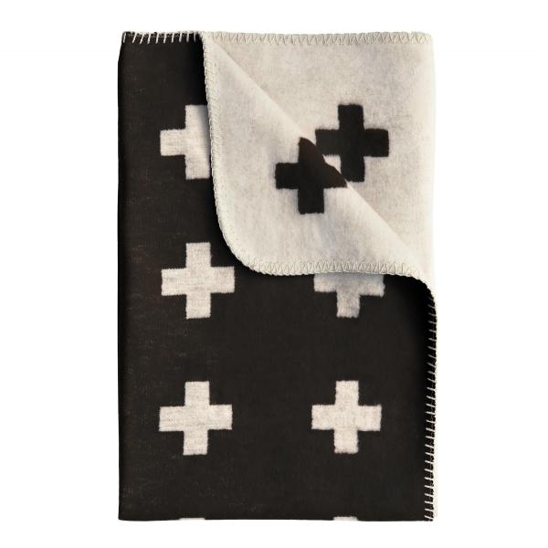 Cross deken - groot zwart