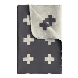 Cross deken - groot grijs