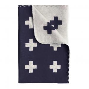 Cross deken - groot marineblauw