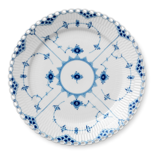 Blue Fluted Full Lace bord Ø 27 cm.