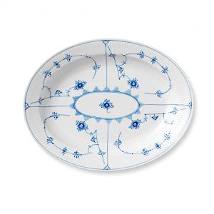 Blue Fluted plain schaal ovaal Ø 36,5 cm.