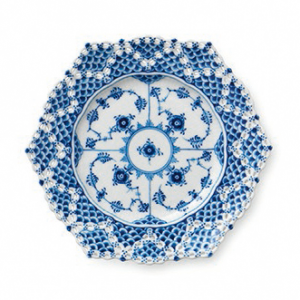 Blue Fluted Full Lace schaal Ø 21 cm.