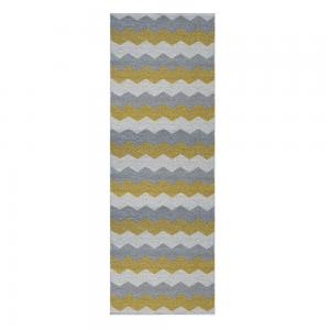 Luppio vloerkleed spring (geel-grijs) 70 x 300 cm.