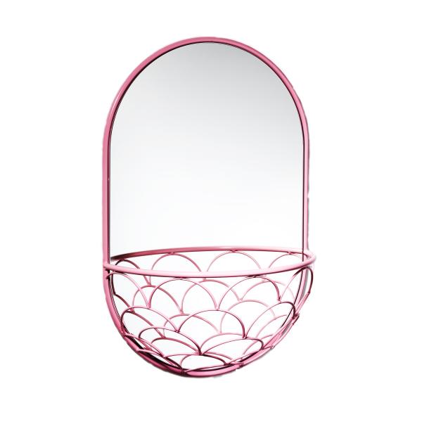 Haga spiegel 60 cm roze 60 x 40 cm