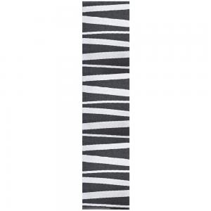 Åre vloerkleed zwart-wit 70 x 300 cm.