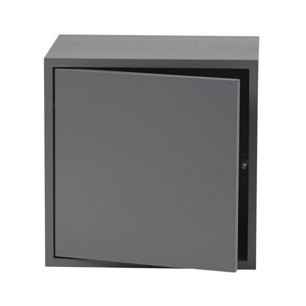 Stacked 2.0 kast met deur - middel grijs