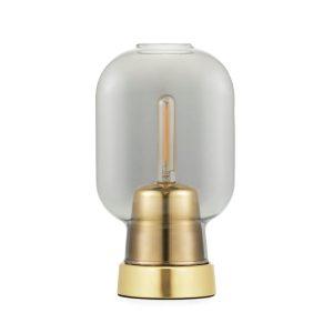 Amp tafellamp grijs-messing