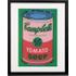 Campbell's Soup Can 1965 door Andy Warhol, 40 x 50 cm, rood en groen