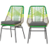 Copa set van 2 eetkamerstoelen voor buiten, limoengroen