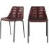 Set van 2 Sudel eetkamerstoelen, rood leer