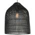 Java grote hanglampenkap, zwart rotan