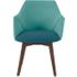 Lule bureaustoel, parelmoerblauw en smaragdgroen