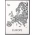 Kaart van Europa door Kortkartellet