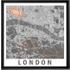 Grafische kaart Londen, ingelijste print